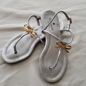 Kate Spade Silver Sandals - Size 5